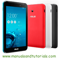 ASUS MeMO Pad Manual And User Guide PDF