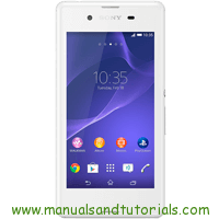 Sony Xperia E3 Manual And User Guide PDF