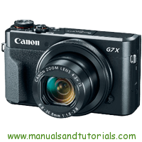 Canon PowerShot G7 X Mark II Manual And User Guide PDF