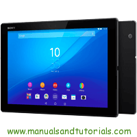 Sony Xperia Tablet Z4 Manual And User Guide PDF