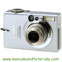 Canon IXUS 500 Manual And User Guide PDF