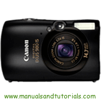 Canon Digital IXUS 980 IS Manual And User Guide PDF