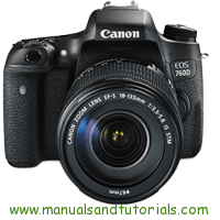 Canon EOS 760D Manual And User Guide PDF