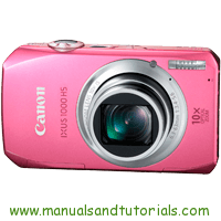 Canon IXUS 1000 HS Manual And User Guide PDF