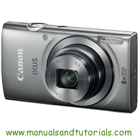 Canon IXUS 160 Manual And User Guide PDF