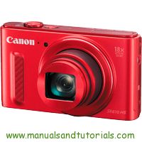 Canon PowerShot SX610 HS Manual And User Guide PDF
