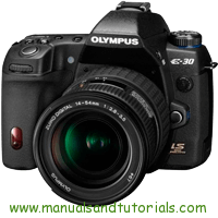 Olympus E-30 Manual And User Guide PDF