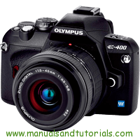 Olympus E-400 Manual And User Guide PDF