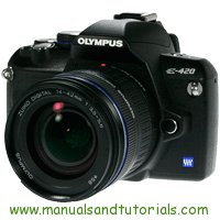 Olympus E-420 Manual And User Guide PDF