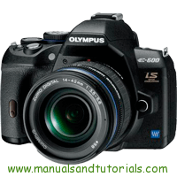 Olympus E-600 Manual And User Guide PDF