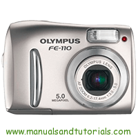 Olympus FE-110 Manual And User Guide PDF