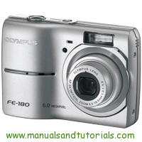 Olympus FE-180 Manual And User Guide PDF