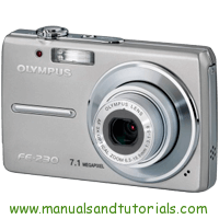 Olympus FE-230 Manual And User Guide PDF
