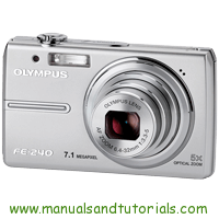 Olympus FE-240 Manual And User Guide PDF