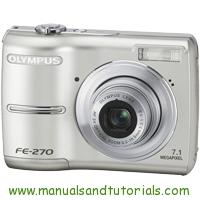 Olympus FE-270 Manual And User Guide PDF