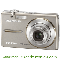Olympus FE-280 Manual And User Guide PDF