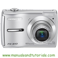 Olympus FE-310 Manual And User Guide PDF