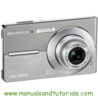 Olympus FE-360 Manual And User Guide PDF