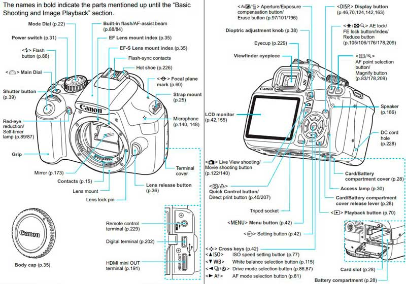 Anatomy of an eos canon rebel t3