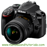 Nikon D3400 Manual And User Guide PDF