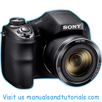 Sony DSC H300 Manual And User Guide PDF