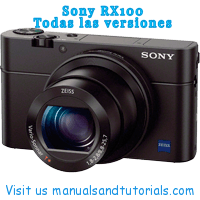 Sony DSC RX100 I II III IV V Manual And User Guide PDF