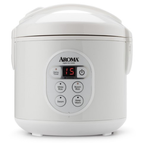 Digital Cool-Touch Rice Cooker & Food Steamer (8 Cup Model ARC-914D)