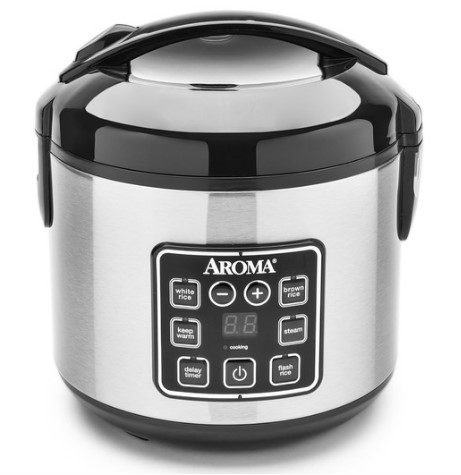 Digital Cool-Touch Rice Cooker & Food Steamer (8 Cup Model  ARC-914SBD)