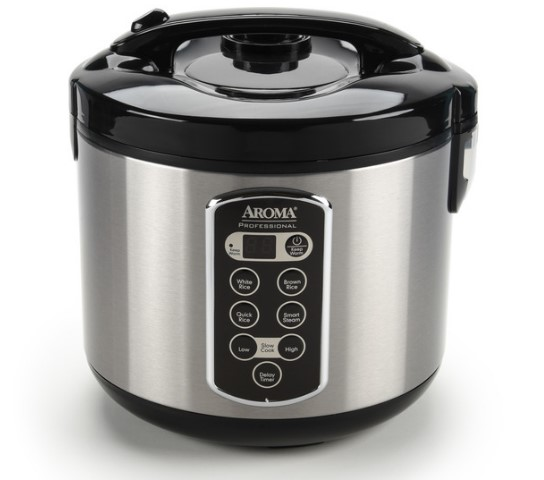 Digital Cool-Touch Rice Cooker, Food Steamer & Slow Cooker (20-Cup Model ARC-2000ASB)