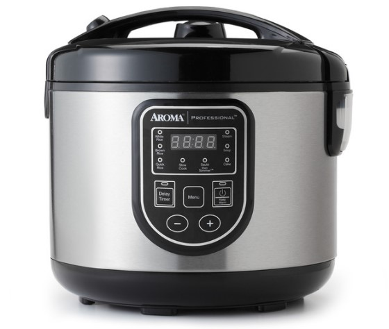Digital Cool-Touch Rice Cooker, Slow Cooker & Food Steamer (16-Cup Model ARC-988SB)
