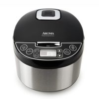 Digital Egg-Shape Rice Cooker, Food Steamer & Slow Cooker (12-Cup Model ARC-616SB)